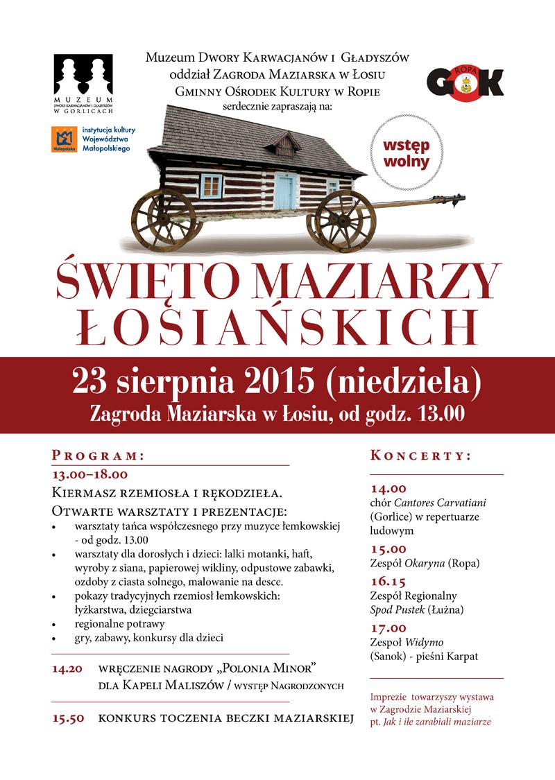 Święto Maziarzy Łosiańskich 2015 - plakat